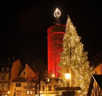 Adventskerze Touristinfo Stadt Kitzingen