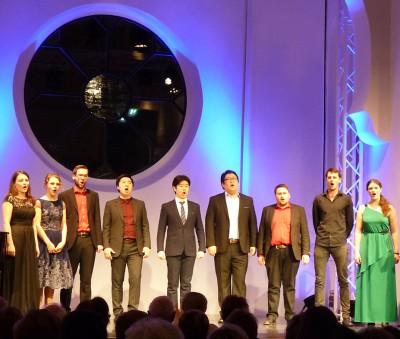Studentinnen und Studenten der Opernschule Würzburg Richard Arndt-Landbeck