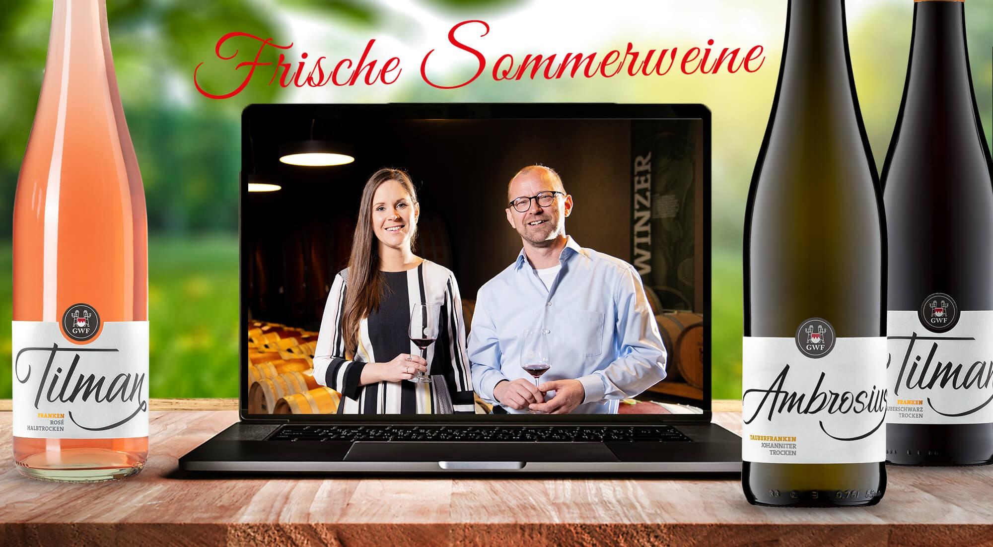 Online-Weinprobe Peter und Laura
